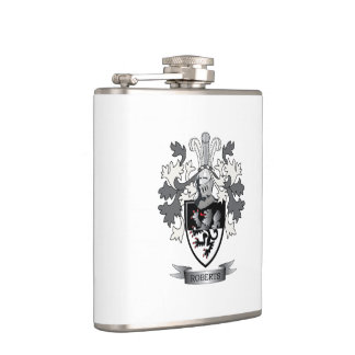 Roberts Family Crest Coat of Arms Hip Flask