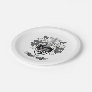 Roberts Family Crest Paper Plate
