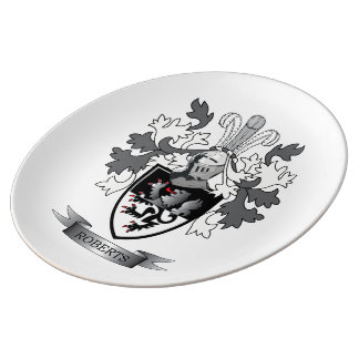 Roberts Family Crest Plate