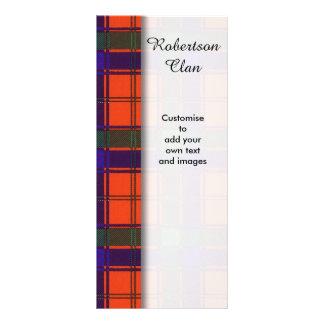 Robertson clan Plaid Scottish tartan Rack Card