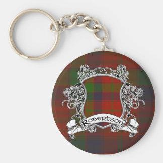 Robertson Tartan Shield Keychains