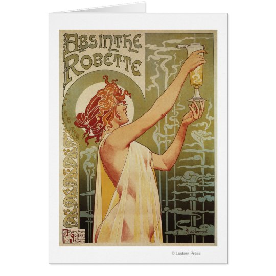 Robette Absinthe Advertisement Poster Card