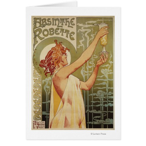 Robette Absinthe Advertisement Poster Greeting Card