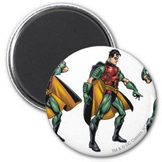 Robin - All Sides 6 Cm Round Magnet