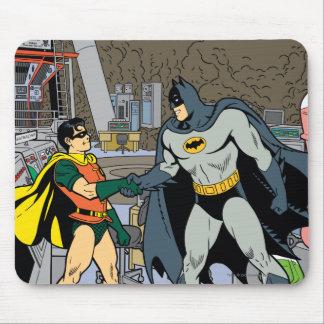 Robin And Batman Handshake Mouse Pad