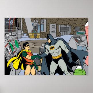 Robin And Batman Handshake Poster