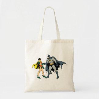 Robin And Batman Handshake Budget Tote Bag
