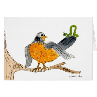 Robin and Inch worm Card