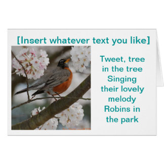 Robin any occasion Card