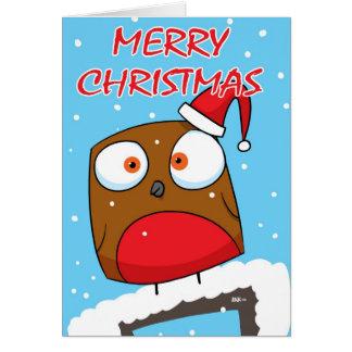 Robin at Christmas Greeting Card