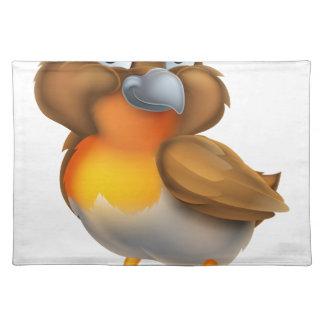 Robin Bird Cartoon Character Placemat