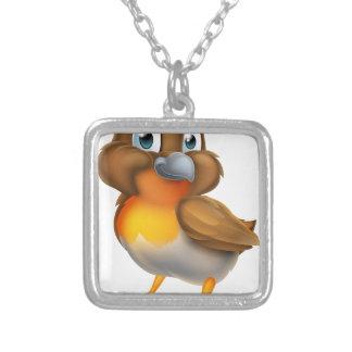 Robin Bird Cartoon Character Silver Plated Necklace