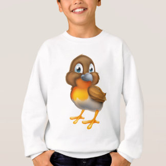 Robin Bird Cartoon Character Sweatshirt