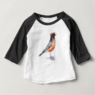 Robin Bird in Hat Baby T-Shirt