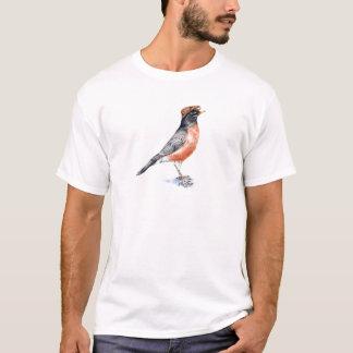 Robin Bird in Hat T-Shirt
