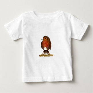 Robin Bird Watercolor Painting Artwork Baby T-Shirt
