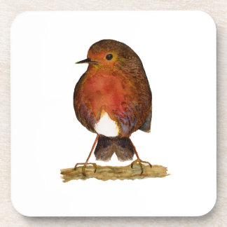 Robin Bird Watercolor Painting Artwork Coaster