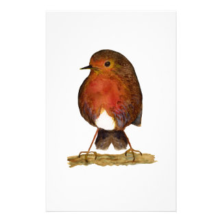 Robin Bird Watercolor Painting Artwork Stationery