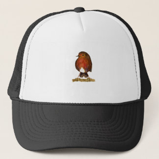 Robin Bird Watercolor Painting Artwork Trucker Hat