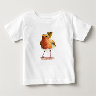 Robin Bird Watercolor Painting Baby T-Shirt