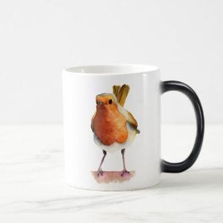 Robin Bird Watercolor Painting Magic Mug