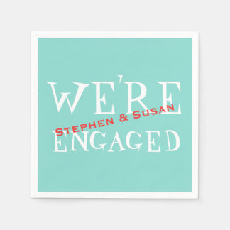 Robin Blue Engagement Crawfish Boil Party Napkins Paper Napkins