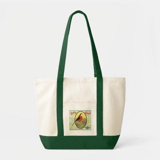 Robin Brand Fruit Crate Label Bag