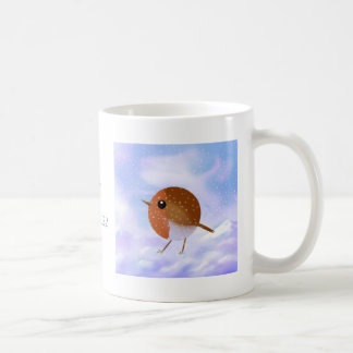 Robin Christmas Snow Scene Coffee Mug