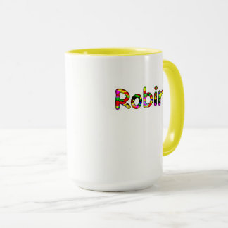 Robin Customized Classic Yellow Mug