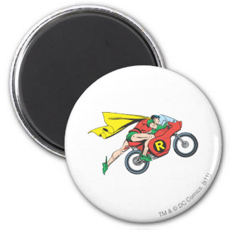 Robin & Cycle 6 Cm Round Magnet
