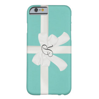 Robin Egg Blue Custom Initial iPhone 6 case Barely There iPhone 6 Case