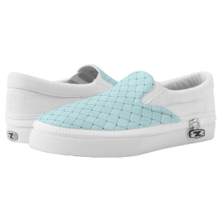 Robin Egg Blue Diamonds Slip-On Shoes