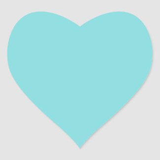 Robin Egg Blue Heart Sticker