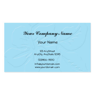 Robin Egg Blue Tone on Tone Hibiscus Pack Of Standard Business Cards