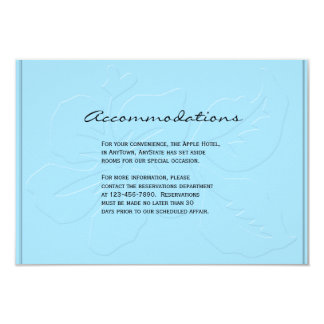 Robin Egg Blue Tone on Tone Hibiscus Insert Personalized Announcement