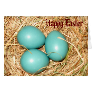 Robin Eggs, Happy Easter Greeting Card