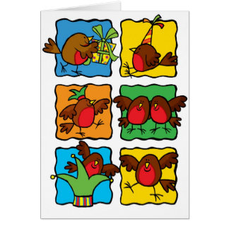 Robin fun card