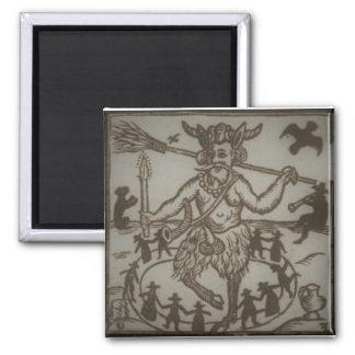 Robin Goodfellow (1629) - sepia Square Magnet