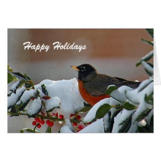 Robin Holiday Greeting Card