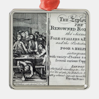 Robin Hood and his mother Silver-Colored Square Decoration