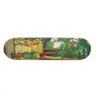 Robin Hood And Little John Skate Board Deck