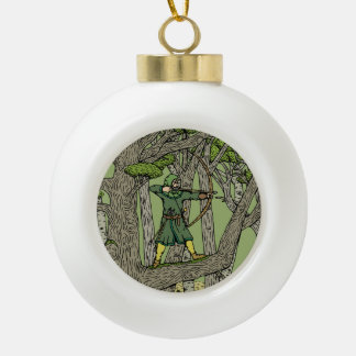 Robin Hood Ceramic Ball Ornament