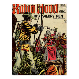Robin Hood Comic Book Postcard