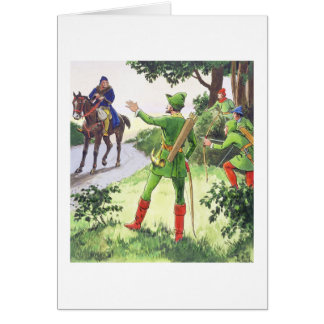 Robin Hood, from 'Peeps into the Past', published Greeting Card