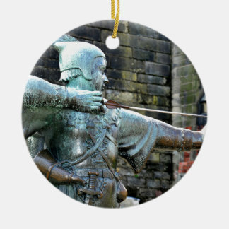 Robin Hood Round Ceramic Decoration