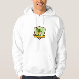 Robin Hood Side Ribbon Crest Retro Hoodie