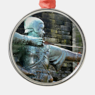 Robin Hood Silver-Colored Round Decoration
