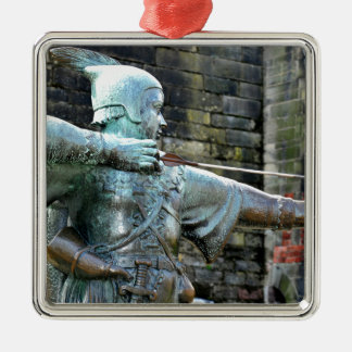 Robin Hood Silver-Colored Square Decoration