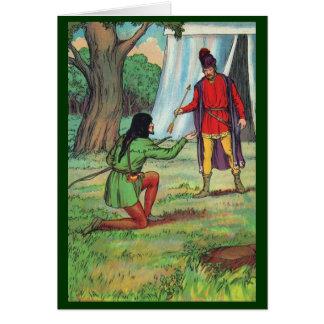 Robin Hood - The Golden Arrow Greeting Card