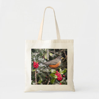 Robin in a Holly Tree Bags